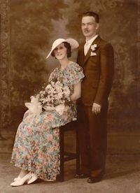 William and Adeline Hendess, Wedding Picture May 30, 1934